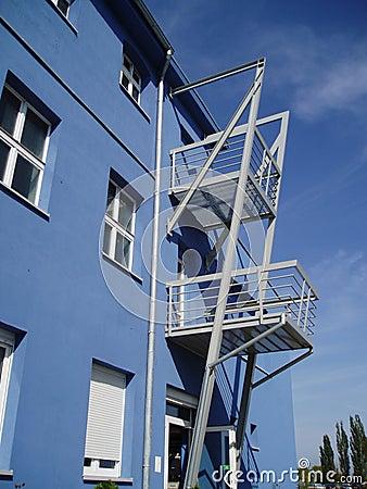 Blue building 3