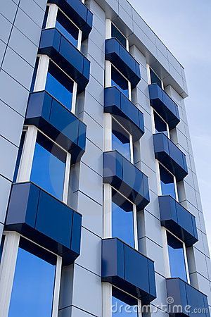 Free Blue Building With Balcony Stock Images - 4863524