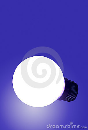 Free Blue Bulb Royalty Free Stock Image - 90376