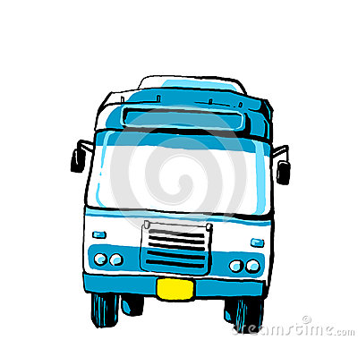 Blue bus illustration