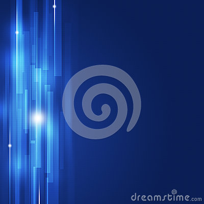 Blue Business Abstract Lines Background