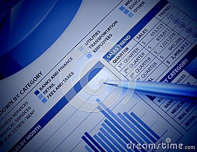 Blue Business Financial Chart Graph