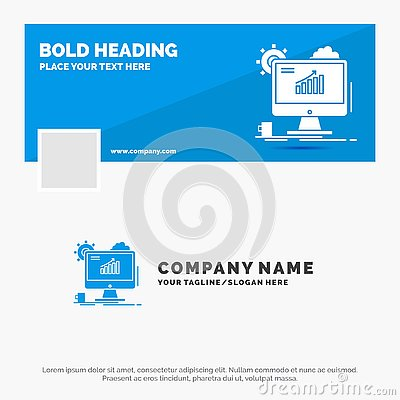 Blue Business Logo Template for Analytics, chart, seo, web, Setting. Facebook Timeline Banner Design. vector web banner background Vector Illustration