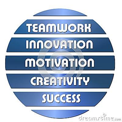 Blue Business motivation slogans