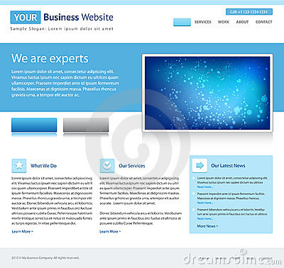 Blue business website