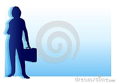 Blue Businesswoman Background