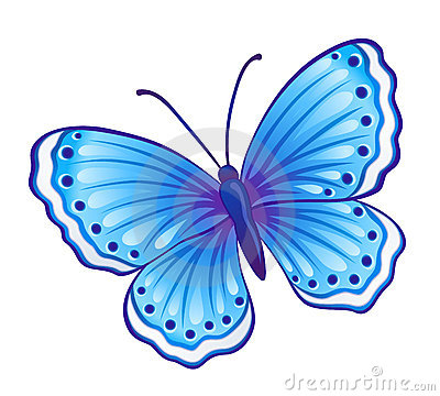 Blue butterfly Vector Illustration