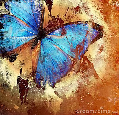 Free Blue Butterfly Stock Images - 3654204