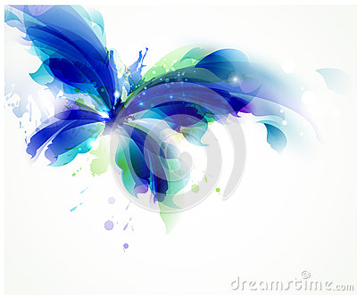 blue butterfly Vector Illustration