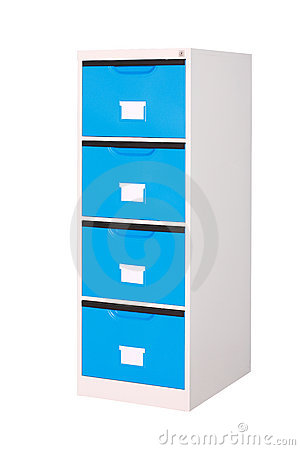 Free Blue Cabinet With Drawers Royalty Free Stock Photo - 20147695