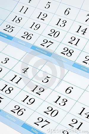 Free Blue Calendar Royalty Free Stock Photography - 18748207