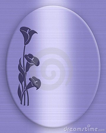 Blue Calla lilies background