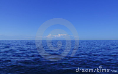 Blue calm ocean water