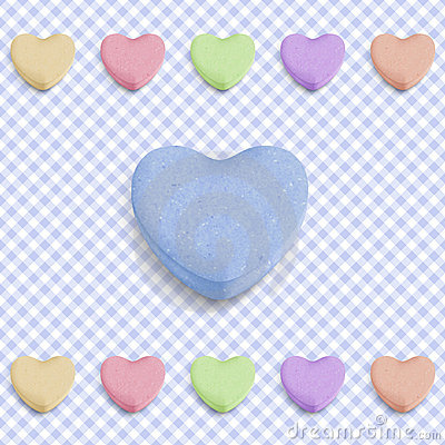 Free Blue Candy Heart Royalty Free Stock Photography - 22511547