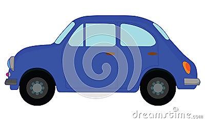 Blue car Vector Illustration