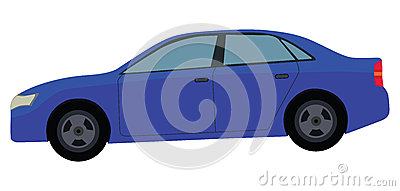 Blue Car Vector Illustration