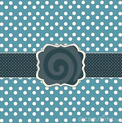 Blue card with dots
