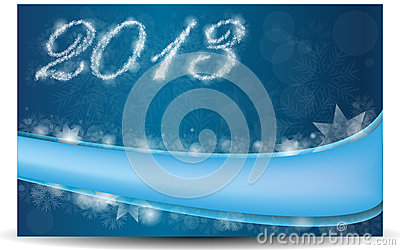 Blue card for the new year