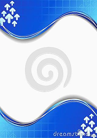 Blue card vector