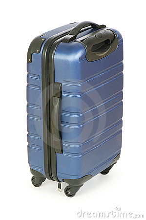 Blue case isolated nd
