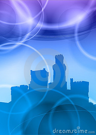 Blue castle Vector Illustration