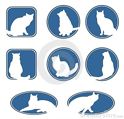 Free Blue Cats Frames Stock Photography - 3030782