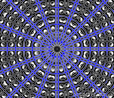 Blue Center Point Mandala