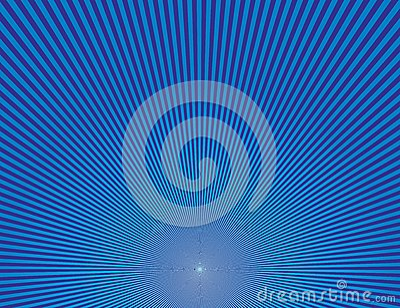 Blue central spiral