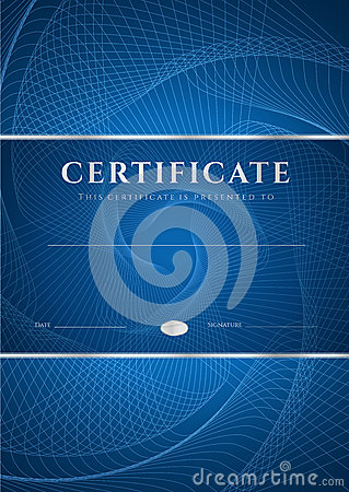 Free Blue Certificate / Diploma Background (template) Royalty Free Stock Photo - 32850645