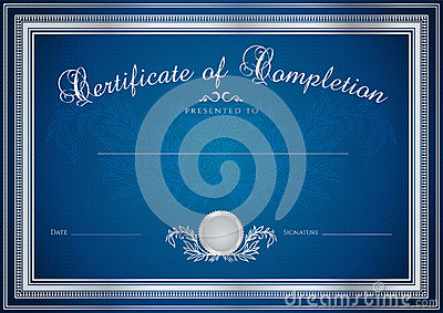 Blue Certificate / Diploma Background (template) Royalty ...