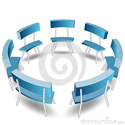 Blue Chairs Circle