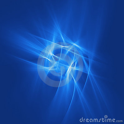 Free Blue Chaos Rays Royalty Free Stock Images - 1651879