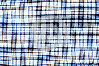 Blue checked fabric