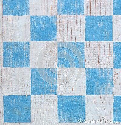 Blue checkerboard background