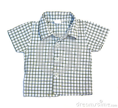 Blue checkered boy shirt