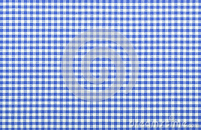 Blue checkered fabric