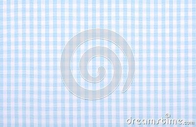 Blue checkered fabric