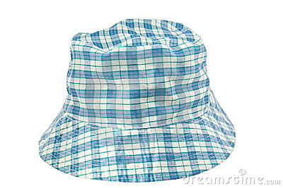 Blue checks hat