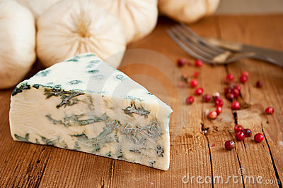 Blue cheese and garlic