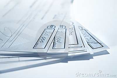 Blue cheques