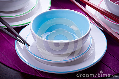 Blue Chinese bowls