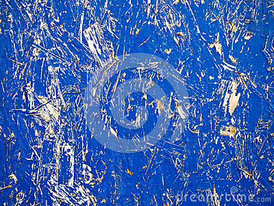 Blue Chipboard Grunge Background
