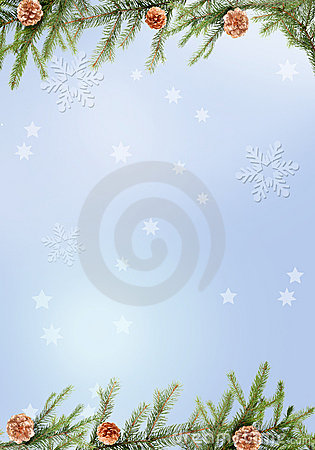 Free Blue Christmas Background Royalty Free Stock Image - 1326996