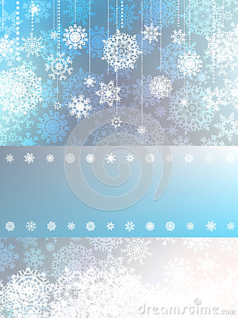 Blue christmas background with snowflake. EPS 8