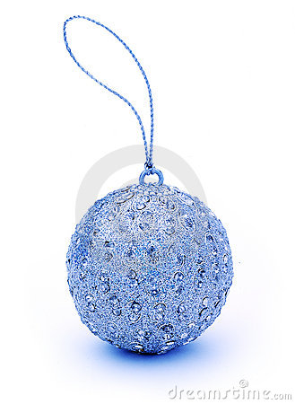 Free Blue Christmas Bauble Ornament Stock Photography - 3258382