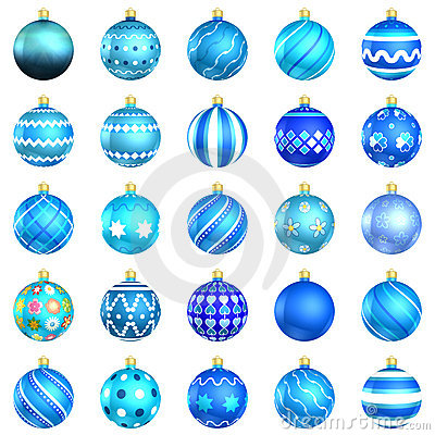 Blue Christmas Baubles Big Back 25 Royalty Free Stock Photos - Image: 20402858