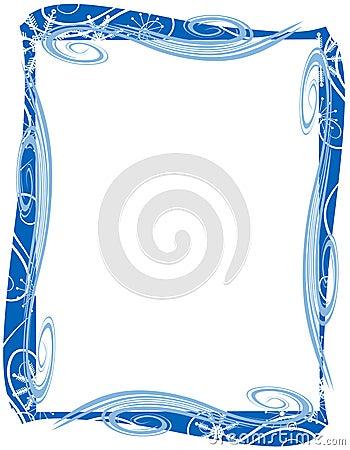 Blue Christmas Border Frame