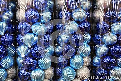 Blue Christmas decoration balls