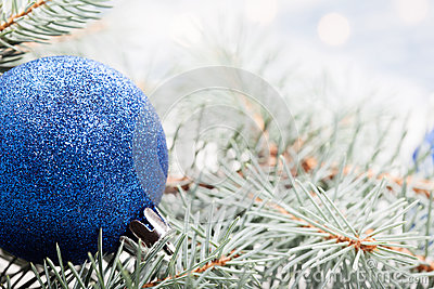 Blue christmas decoration