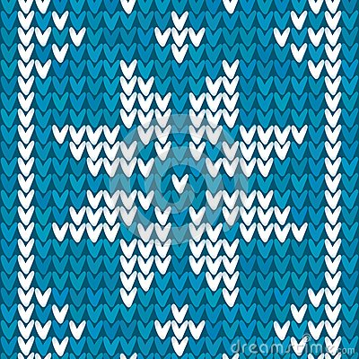 Blue Christmas embroidery vector background